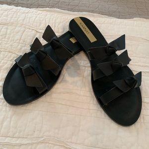 Kaanas Black Bow Sandals